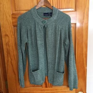 Gloria Vanderbilt Casuals green sweater - XL